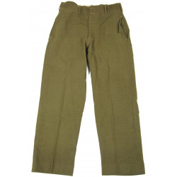 Trousers, Wool, Serge, OD Light Shade, British Made, 1943