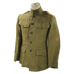 Tunic, US Army, Sgt. Emery Mailey, 4th Trench Mortar Battery, 77th Field Arty, 4th Inf. Div., WWI
