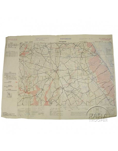 Map, US Army, Montebourg, Top Secret, E/506, 1944
