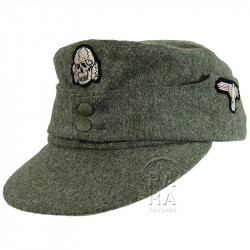 Casquette M-1943, feldgrau, Waffen SS