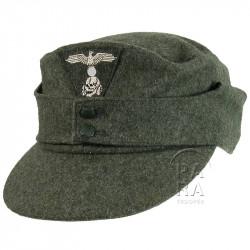 Casquette M-1943, feldgrau, Waffen SS, 2e type