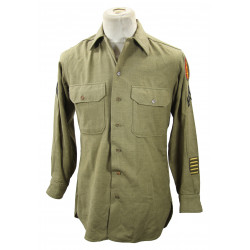 Shirt, Wool, Corporal, 63rd Infantry Division, 14 ½ x 33