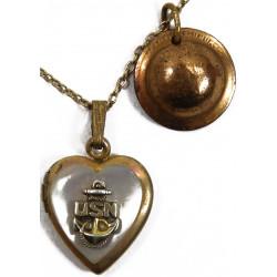 Pendant, Locket, Sweetheart, US Navy