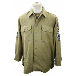 Shirt, Wool, Master Sergeant, 2nd Armored Division, 16 ½ x 33, 1944