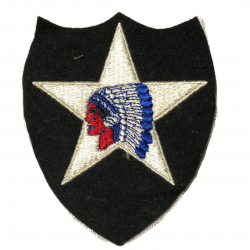 Patch, 2nd Infantry Division, Embroidered on Felt