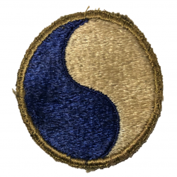 Patch, Shoulder, 29th Infantry Division, British Made, Black Back