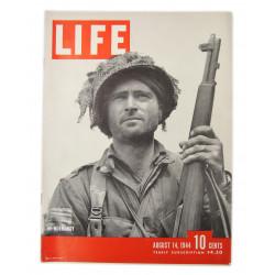 Magazine, LIFE, Lt. Kelso Horne, 508th PIR, 82nd Airborne, August 14, 1944