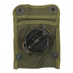 Compass, Superior Magneto, with OD Canvas Pouch, 1944