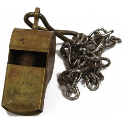 Whistle, Brass, Regulation US Army