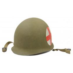 Helmet, M1, Medic, 2 Red Crosses