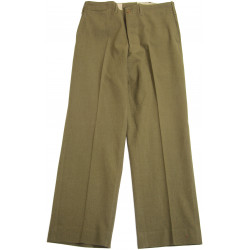 Trousers, Wool, Serge, OD, size 34 x 33, 1941, Pvt. Jack Moore