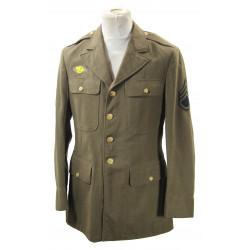 Coat, Wool, Serge, OD, 40L, Staff Sergeant, 1941