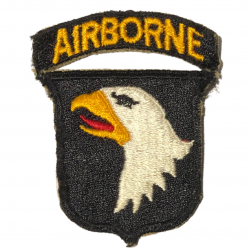 Patch, 101st Airborne Division, Type 7, Green Back, 1943