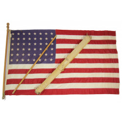 Flag, US, 48 Stars, Cotton, 3' x 5', with Two-Part Pole