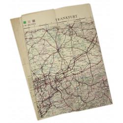 Carte de Francfort (Frankfurt), Allemagne, 1944