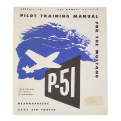 Manual, Training, Pilot, AAF 51-127-5, P-51 Mustang, Restricted