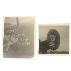 Photos, USAAF, B-24D, Nose Art, 10 Knights in a Bar Room