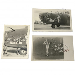 Photos, USAAF, B-24D, Nose Art, Pistol Packin' Mama
