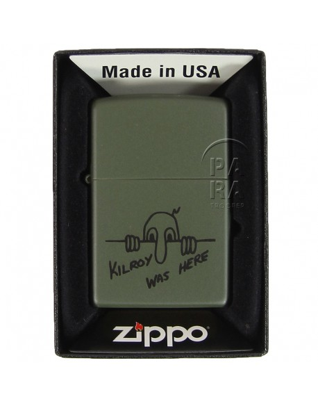 Lighter, Zippo, Kilroy was here
