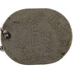 Plaque d'identité, Dog Tag, US Navy, S2c Thomas Smiles, WWI