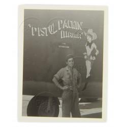 Photo, USAAF, B-24D, Nose Art, Pistol Packin' Mama