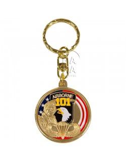 Porte-clés 101ème Airborne, rond