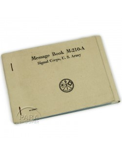 Message book, M-210-A, 1943