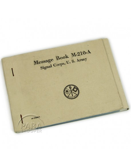 Message book M-210-A, 1943