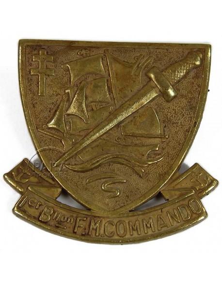 Cap badge, N° 4 Commando, museum quality
