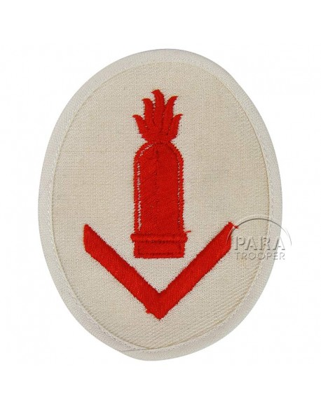 Patch, Sleeve, Smaller vessel gun chief's, Kriegsmarine