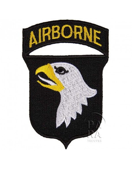 Patch, shoulder, 101st Airborne Division, white tongue