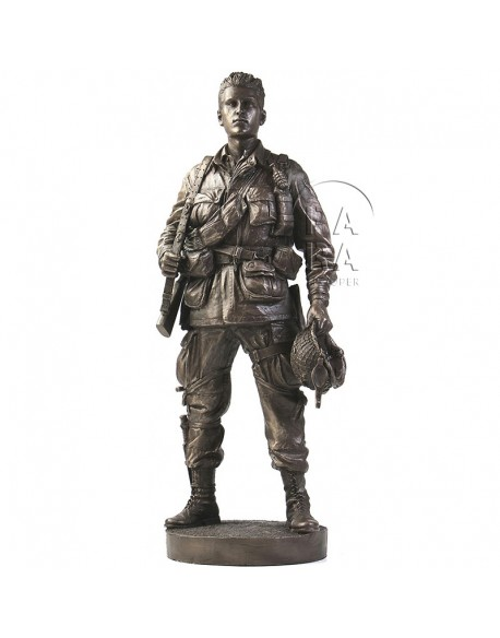 Statue 101st paratrooper, Ravenoville, Normandy, D-DAY + 1