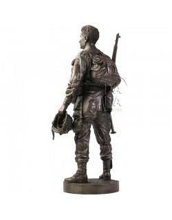 Statue 101st paratrooper, Ravenoville, Normandy, D-DAY + 1