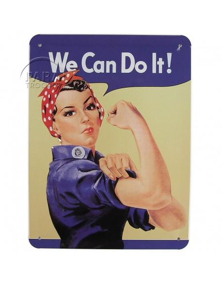 Plaque en métal, We Can Do It!