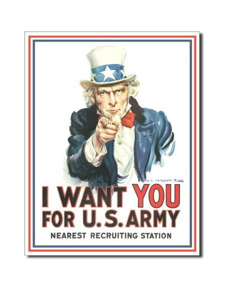 Tin Sign, I WANT YOU FOR U.S.ARMY