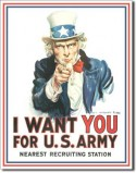Plaque publicitaire, I WANT YOU FOR U.S.ARMY