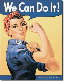 Plaque publicitaire, WE CAN DO IT !