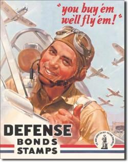 Plaque publicitaire, You buy'em, we'll fly'em
