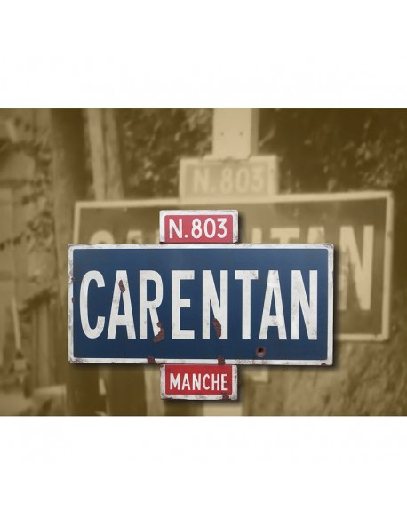 Sign, Road, Carentan, N803, June 1944