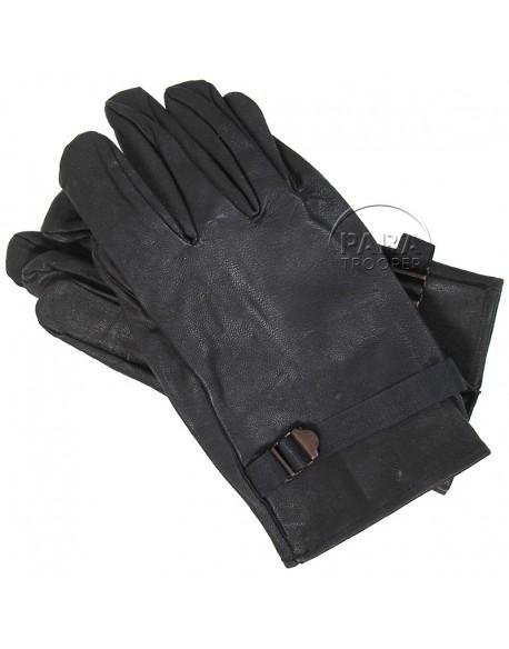 Gloves, leather, black