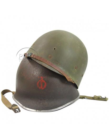 Casque M1, 90e Division d'Infanterie