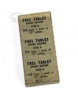 Tablettes de combustible, boite carton