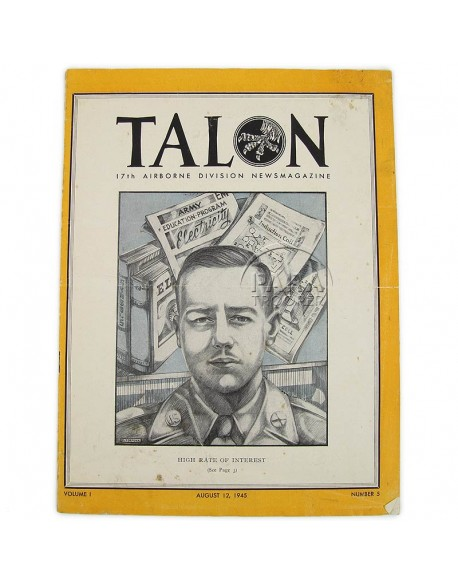 Magazine, The Talon,17th AB Div., 12 août 1945