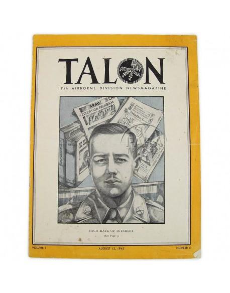 Newsmagazine, The Talon, 17th Airborne Div., August 12, 1945
