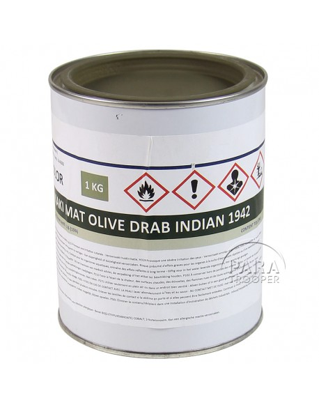 Paint, US Army, Olive Drab Indian 42, 1 liter