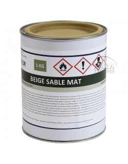 Peinture allemande, pot 1L, beige sable