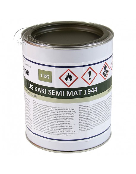 Paint, US Army, Olive Drab half-matt 44, 1 liter
