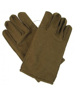 Gloves, Wool, with leather palm