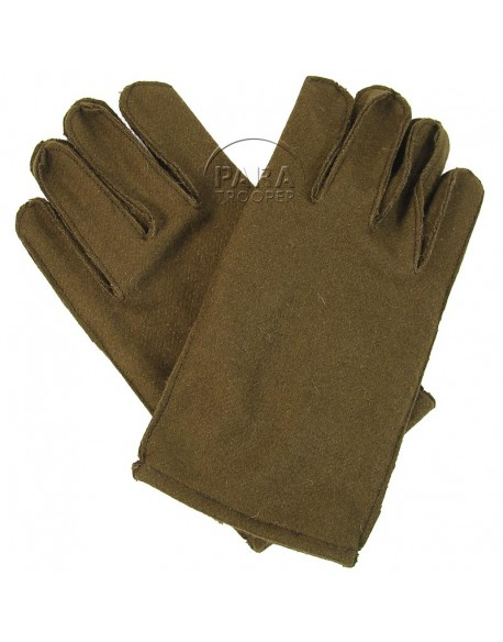 Gloves, Wool, with leather palm, US