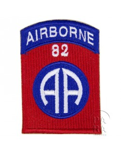 Patch, shoulder, 82nd Airborne Division, numbered 82